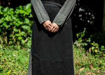 beautiful linen wool knit vest robe