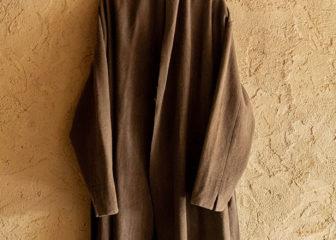 beautiful mad dyed wool haori robe